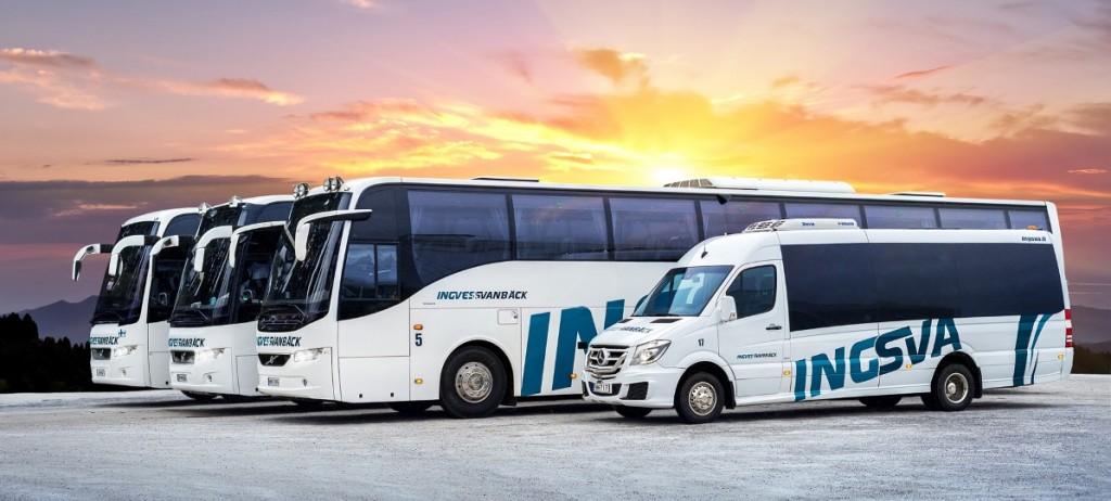 Buss nr 5, 6, 46 och 17 redigerad