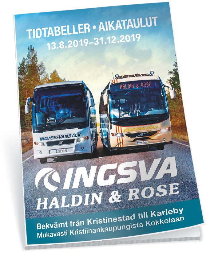 Tidtabell 2019 bussiaikataulut