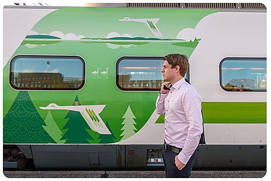 Junabussi - Tågbussen Pietarsaari - Pännäinen - Bännes - Jakobstad